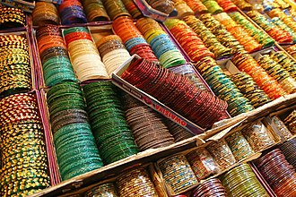 Bangle - Bangles on display in India.
