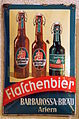 Barbarossa-Bräu, Artern, enamel beer advertising sign.JPG