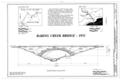 Baring Creek Bridge, Spanning Baring Creek at Going-to-the-Sun Road, West Glacier, Flathead County, MT HAER MONT,15-WEGLA,14- (sheet 1 of 3).png