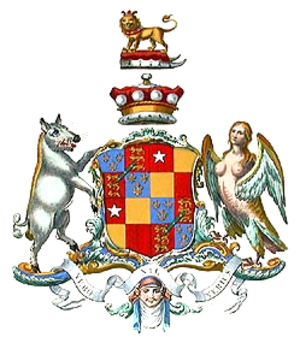 Vere Beauclerk, 1st Baron Vere - Arms of Admiral Lord Vere