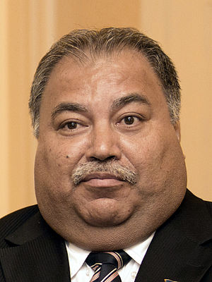 Nauru - Baron Waqa, the incumbent President of Nauru.