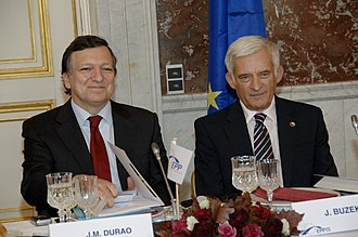 Jerzy Buzek - Image: Barroso Buzek EPP Summit