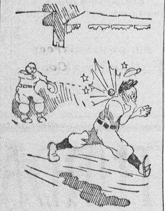 Beanball - Runner hit by ball