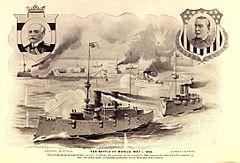 Battle of Manila Bay engraving