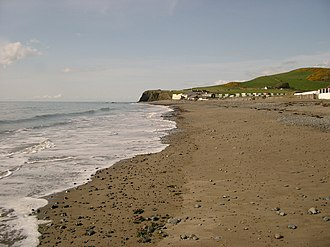 Clarach Bay - Image: Beach at Clarach Bay
