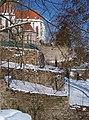 Bechyně, terasy u kláštera, ze schodů.jpg