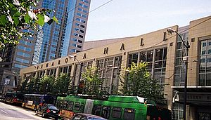 Benaroya Hall - 3rd Avenue side of Benaroya Hall