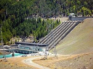 Benmore Dam - Image: Benmore Power Stn NZ