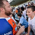 Benn Robinson signs fans heads in Sydney.jpg