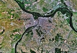 Satellite view of Belgrade