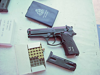 Beretta 92 - Beretta 92 Compact L owned by the Royal Malaysia Police.