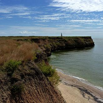 Berezan Island - Image: Berezan Island a monument to Lieutenant Schmidt
