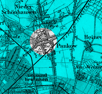 Berlin-Pankow station - Pankow station (Hst.) and village, 1894