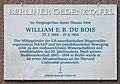 Berliner Gedenktafel Oranienstr 130 (Kreuz) William Edward Burghardt Du Bois.jpg