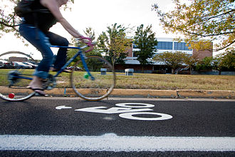Eastern Mennonite University - Bicycle Lane on Eastern Mennonite University Campus