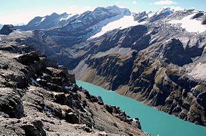 Glarus Alps - The Bifertenstock above Lake Limmernsee
