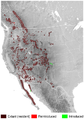 Bighorn Sheep Ovis canadensis distribution map topo.png
