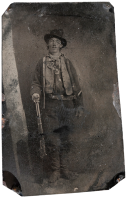 Billy the Kid tintype, Fort Sumner, 1879-80