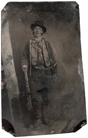 Billy the Kid tintype that recently sold for USD $2,300,000, the 4th highest amount for a photograph of all time.