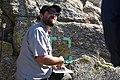 Biologist Neil Frakes speaking to students (25733543696).jpg