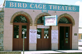 Bird Cage Theatre former theater, now museum, in Tombstone, Arizona