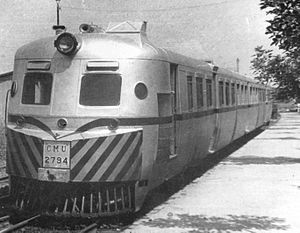 Birmingham Railway Carriage and Wagon Company - DMU on the Belgrano Sur Line in Buenos Aires, Argentina (1966)
