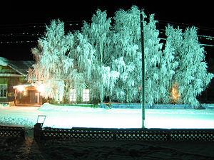 Бисерово зимой