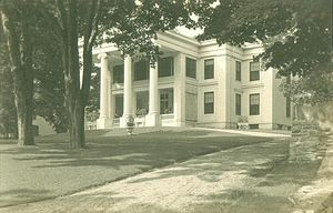 Belfast, Maine - Greek Revival mansion from the shipbuilding era; postcard c. 1920