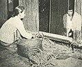 Blind woman working, Wanita di Indonesia p80 (Ministry of Information).jpg