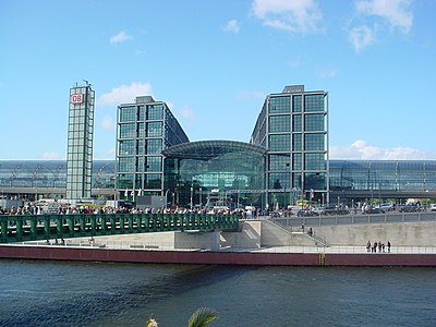 The new central station (Hauptbahnhof)