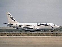 Ryanair Boeing 737-200 nel 1994.