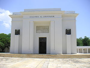 Simón Bolívar Memorial Monument, standing in S...