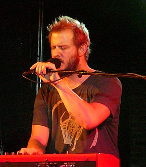 Justin Vernon - Vernon performing with Bon Iver in Black Cat, Washington, D.C. in 2008