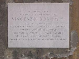 Paolo Vincenzo Bonomini -  Plaque on the birthplace of Paolo Vincenzo Bonomini, Bergamo