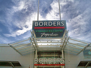 English: Borders in West Quay Retail Park, Sou...