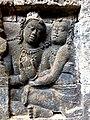 Borobudur - Divyavadana - 072 W, Ven Mahakatyayana teaches King Rudrayana (detail 3) (11706970836).jpg
