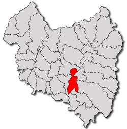 Location of Boroșneu Mare