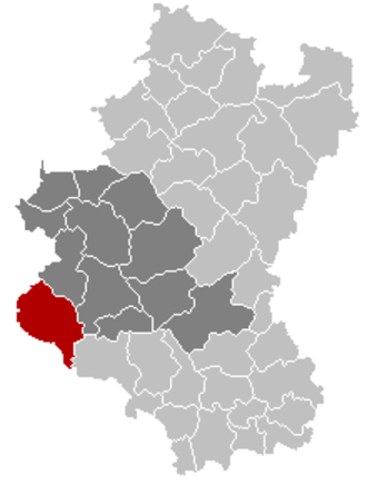 Bouillon - Image: Bouillon Luxembourg Belgium Map