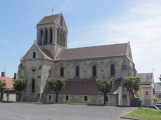 Bourg-et-Comin - The 12th century Church of St. Martin ,  Bourg-et-Comin