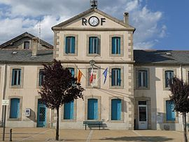 The town hall in Bourg-Madame