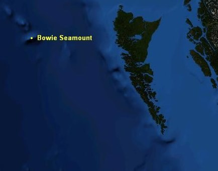Bowie Seamount map