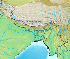 Map of the Brahmaputra