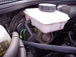 Brake master cylinder & reservoir (Saab 9-5)