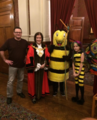 Bramley Bee, Belliza the Bee Lady and author ig Oliver, meets the Mayoress of Croydon, from the children's book. The Butterfly Bee Lady and the Bee.png