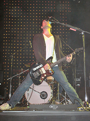 Brand New (band) - Jesse Lacey performing in Toronto during December 2006.