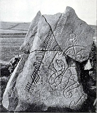 Brandsbutt Stone - Archaelogical photograph of 1903