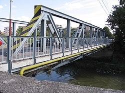 Bridge over the Târnava Mică river in Târnăveni, Romania