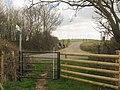 Bridleway crosses Stone Street - geograph.org.uk - 1802857.jpg