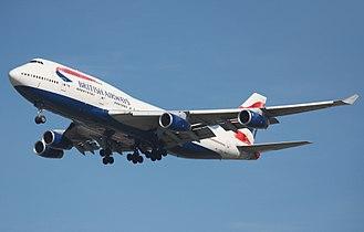 Boeing 747-400 - Image: British Airways G BNLU 2008 09 13 YVR