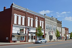 Broadway south from Fourth, Spencerville.jpg
